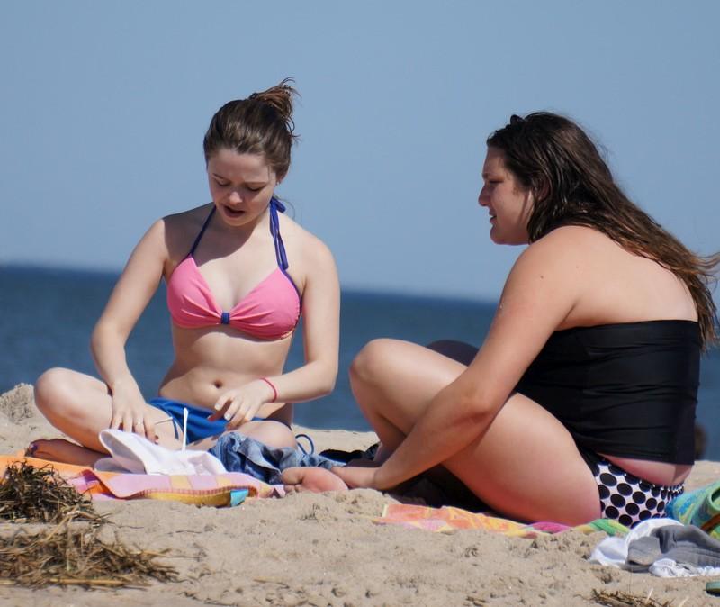 handsome college teen in bathing suit