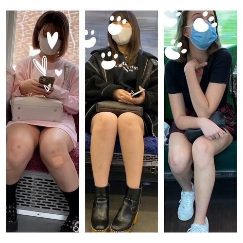 三角パンチラあり 脚フェチ374 3名の美人お姉さんの対面エロ過ぎる生足美脚