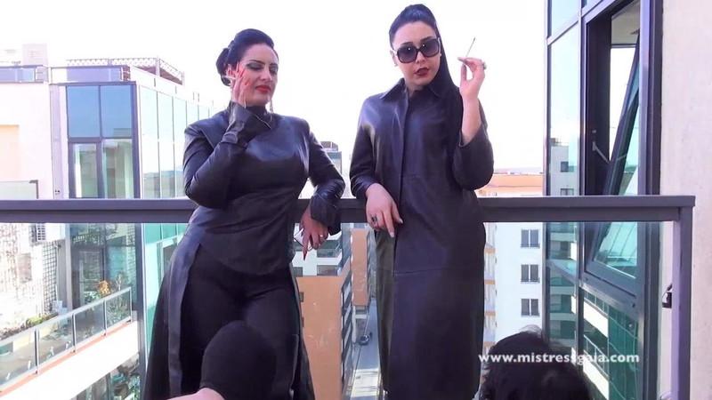 Mistress Gaia - Smoking With My Friend Mistress Ezada [HD 720P]