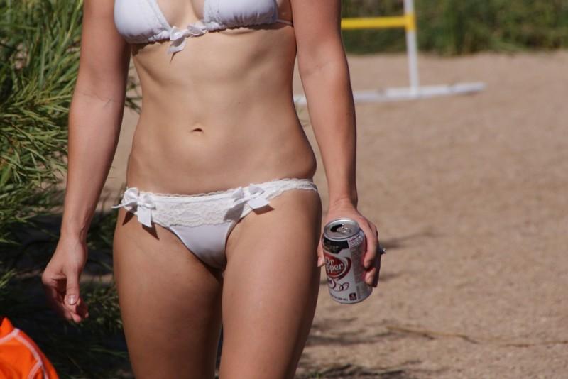 arizona girl in white bikini