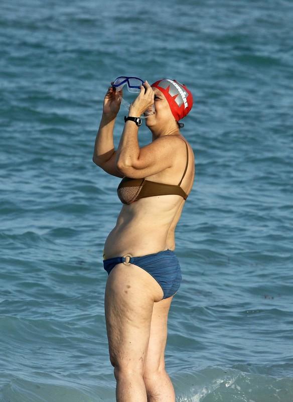 ironman milf in blue bikini