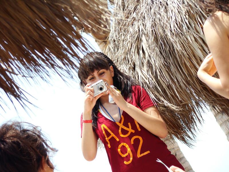 cute teen on the beach