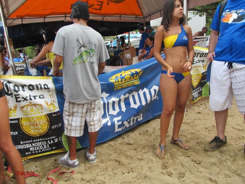 corona beer promo girl in candid bikini