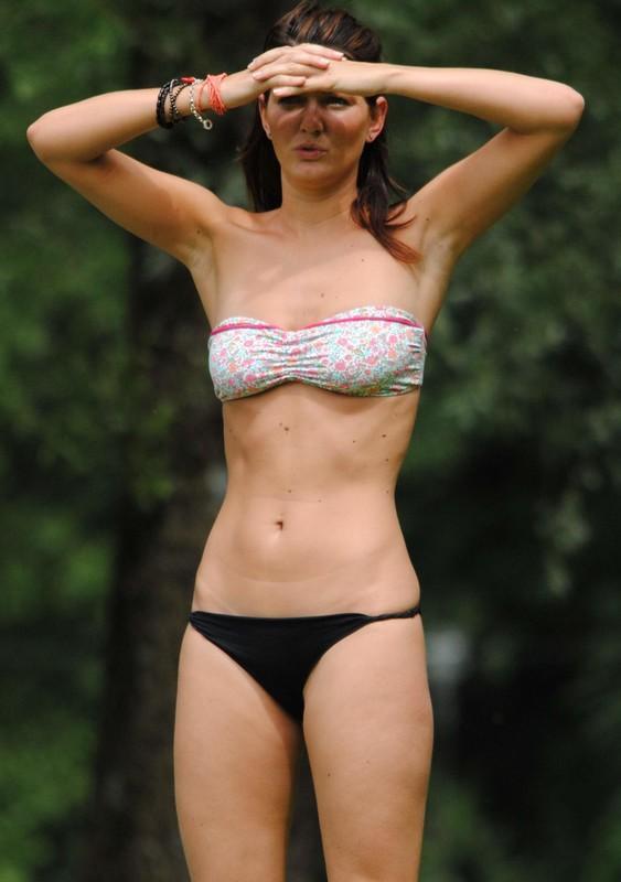 slim perfect girl in bikini