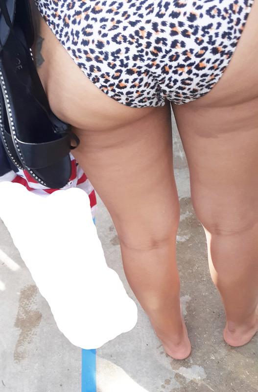 sweet milf ass in leopard print bikini