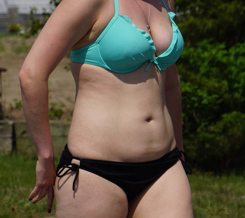 busty lady in handsome bikini