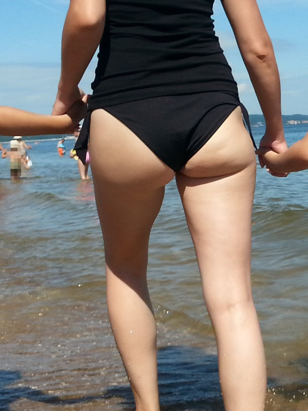sexy milf booty in black bathing suit