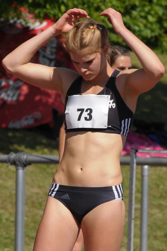 track & field athlete in adidas sportswear